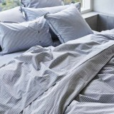 Sheets On The Line Organic Percale Cotton Quilt Cover Set - Harbour Stripe