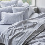 Sheets On The Line Organic Percale Cotton Quilt Cover Set - Fog Stripe