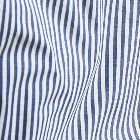Sheets On The Line Organic Percale Cotton Sheet Set - Harbour Stripe