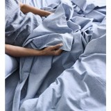 Sheets On The Line Organic Percale Cotton Sheet Set - Harbour