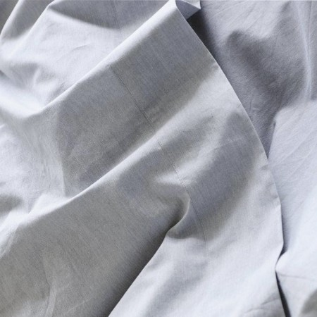 Sheets On The Line Organic Percale Cotton Sheet Set - Fog