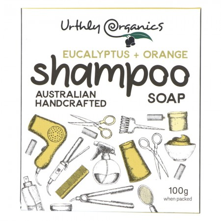 Urthly Organics Hair & Body Shampoo Bar - Orange Eucalyptus