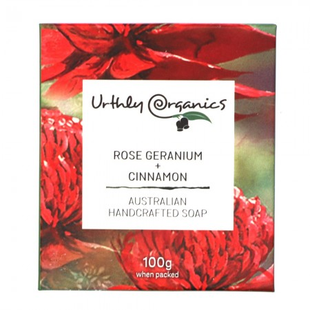 Urthly Organics Soap Bar - Rose Geranium & Cinnamon