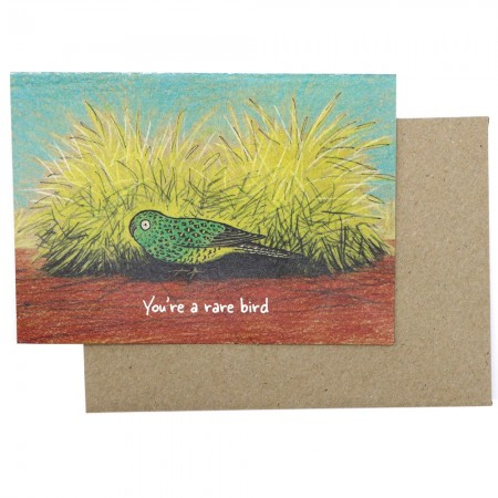 Paula Peeters Wildlife Greeting Card - You're a Rare Bird