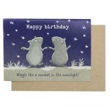 Paula Peeters Wildlife Greeting Card - Wiggle Like A Wombat