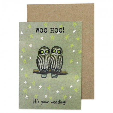 Paula Peeters Wildlife Wedding Card - Woo Hoo!