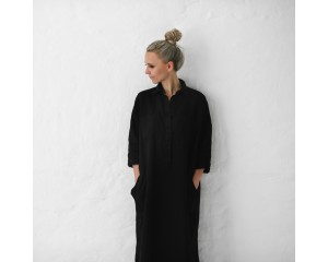 Seaside Tones Shirt Dress Black
