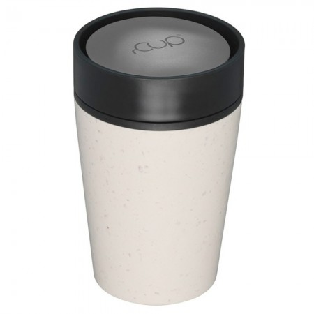 rCUP Small Reusable Coffee Cup 8oz/227ml - Cream/Black
