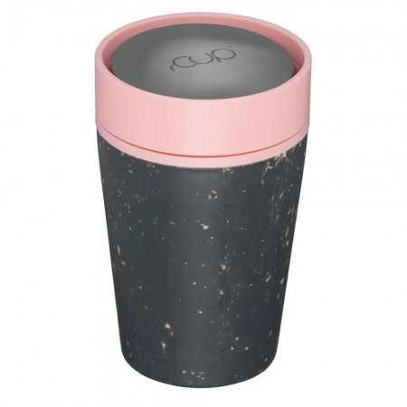 rCUP Small Reusable Coffee Cup 8oz/227ml - Black/Pink