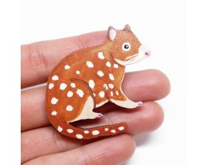 Pixie Nut and Co Quoll Brooch