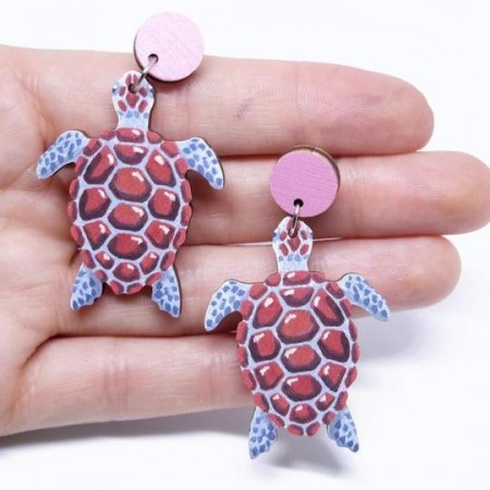 Pixie Nut and Co Turtle Earrings