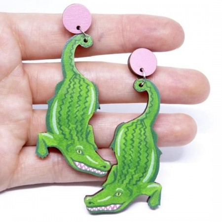 Pixie Nut and Co Croc Earrings