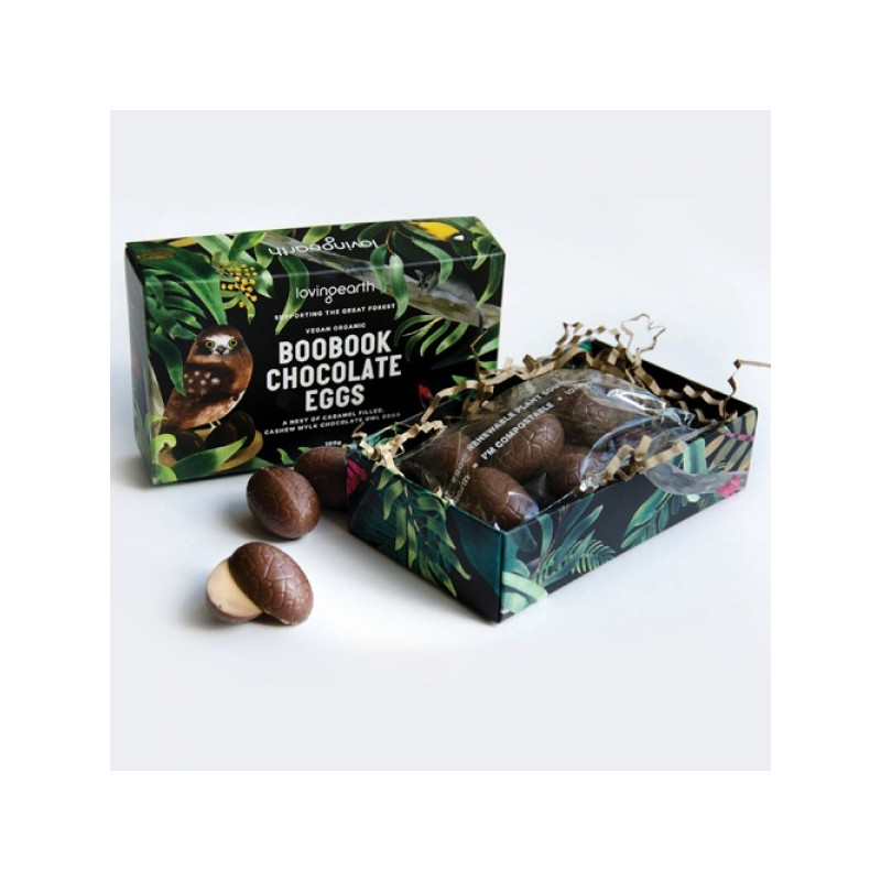 Loving Earth Boobook Chocolate Eggs