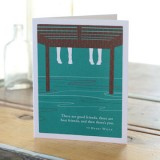 Love Friendship Greeting Card - There Are Good Friends...