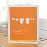 New Baby Greeting Card - There Is A Miracle...