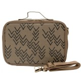 SoYoung Insulated Bento Paper Lunch Box - Olive Chevron