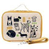 SoYoung Raw Linen Insulated Lunch Box - Wee Gallery Pups