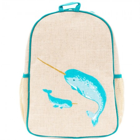 SOY Toddler Backpack Teal Narwhal UNCOATED
