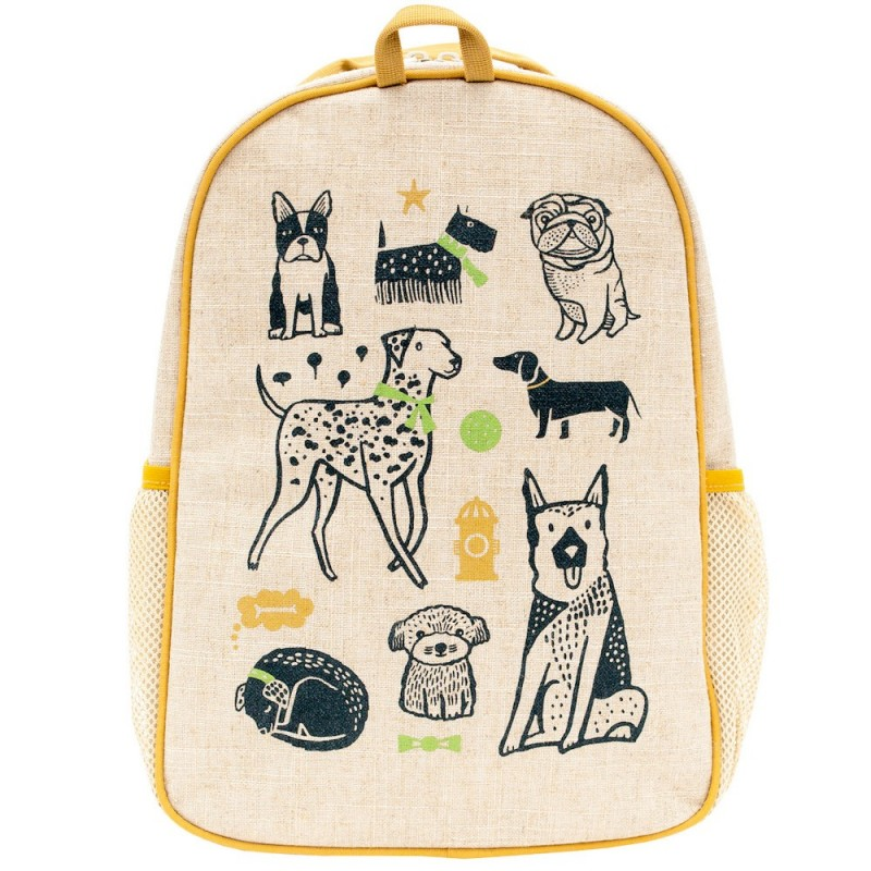 SOY Toddler Backpack Wee Gallery Pups UNCOATED