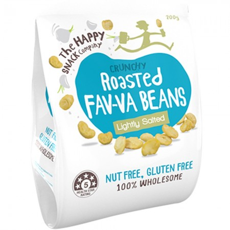 The Happy Snack Company Roasted Fav-va Beans 200g - Lightly Salted