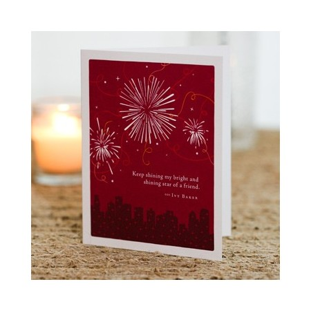 Love Friendship Greeting Card - Keep Shining My Bright...
