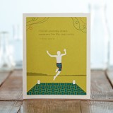 Birthday Greeting Card - Cherish Yesterday, Dream Tomorrow...