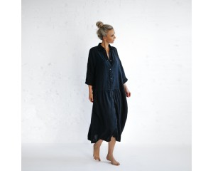 Seaside Tones Oversized Dress Navy