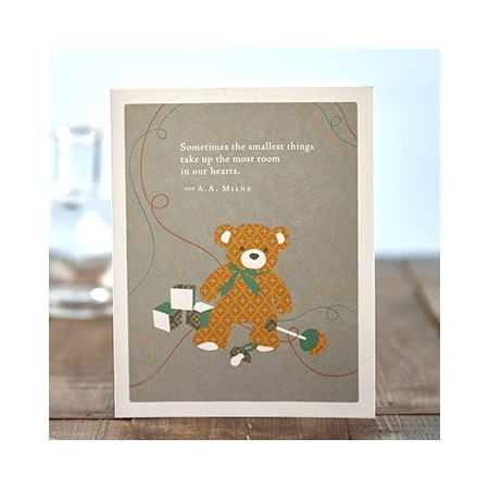 New Baby Greeting Card - Sometimes The Smallest Things...