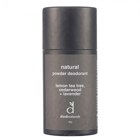 Dindi Naturals Powder Deodorant - Lemon Tea Tree, Cedarwood & Lavender