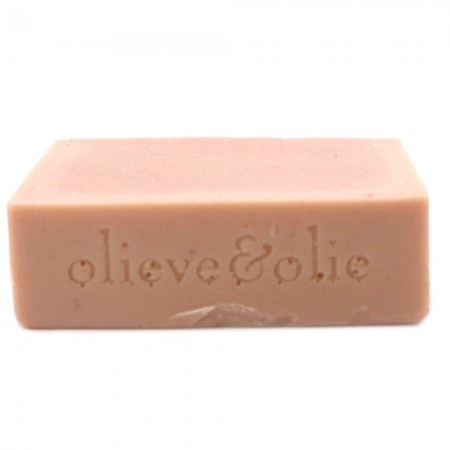 Olieve Soap Bar 80g - Lavender, Rose Geranium & Pink Clay (unpackaged)