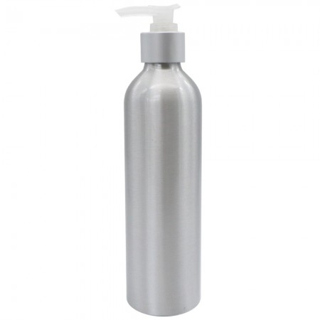 Silver Aluminium Pump Bottle 250ml