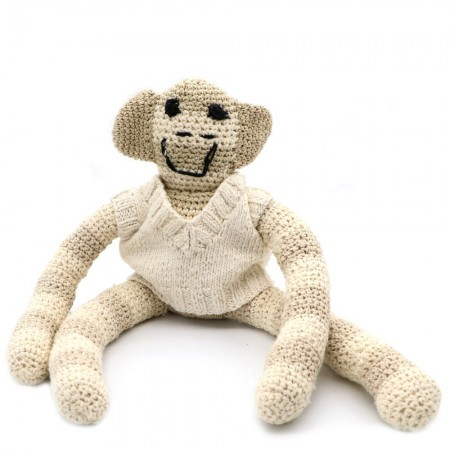 Knit for Life Cotton Toy - Monkey Striped Large