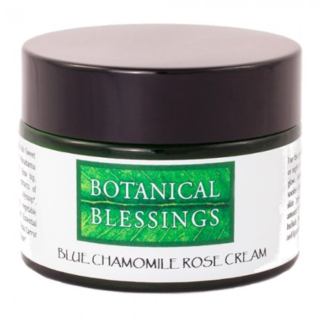 Botanical Blessings Blue Chamomile Rose Face Cream