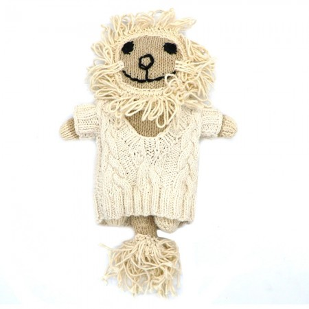 Knit for Life Knitted Cotton Toy - Lion Large