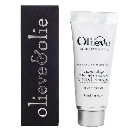 Olieve Hand Cream Lavender, Rose Geranium and Sweet Orange 80ml