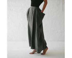 Seaside Tones Long Skirt Grey