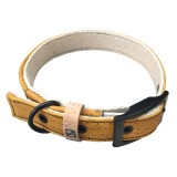 Herzog Small Hemp & Cork Dog Collar - Yellow