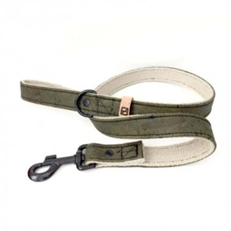 Herzog Hemp & Cork Dog Lead - Olive