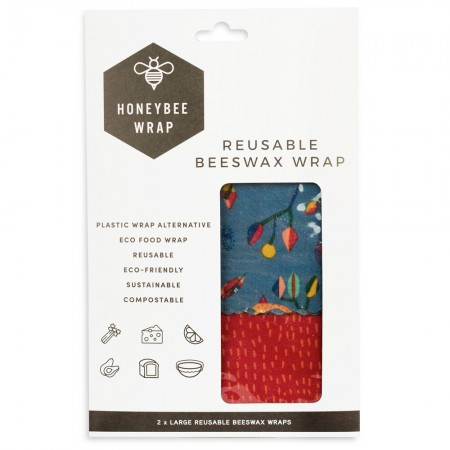 Honeybee Beeswax Food Wraps - Twin Set Large