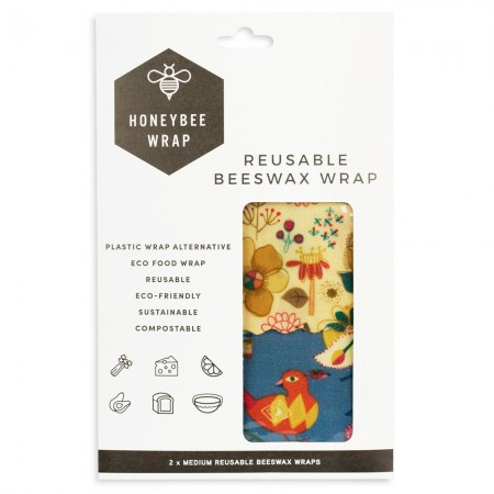 Honeybee Beeswax Food Wraps - Twin Set Medium