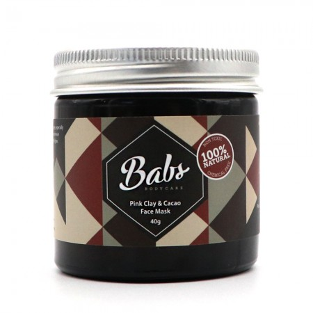 Babs Bodycare Pink Clay & Cacao Face Mask 40g