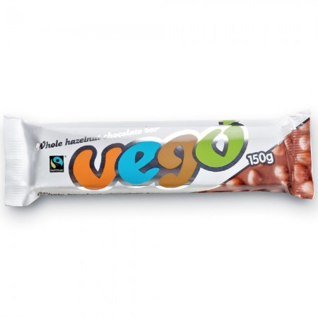VEGO Whole Hazelnut Chocolate Bar 150g