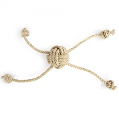 Betty Woof Small Hemp Rope Dog Toy - Multi Play