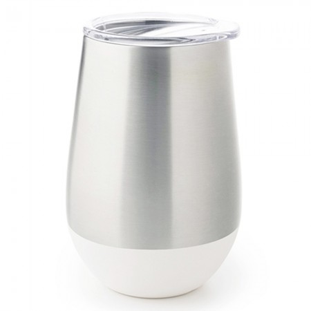 U Konserve Insulated Stainless Steel Wine Tumbler 12oz 355ml - White