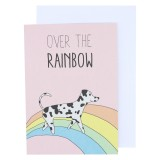 Betty Woof Greeting Card - Over The Rainbow
