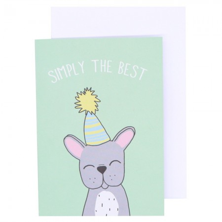 Betty Woof Greeting Card - Simply The Best
