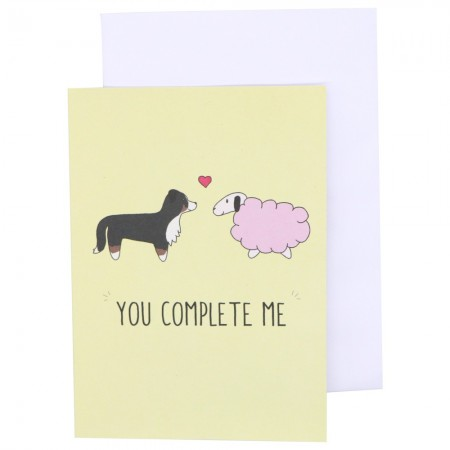 Betty Woof Greeting Card - You Complete Me