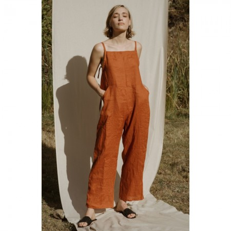 Common Stitch Wattlebird Jumpsuit - Paprika