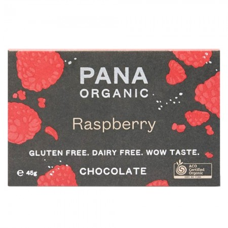 Pana Organic Raw Vegan Chocolate 45g - Raspberry