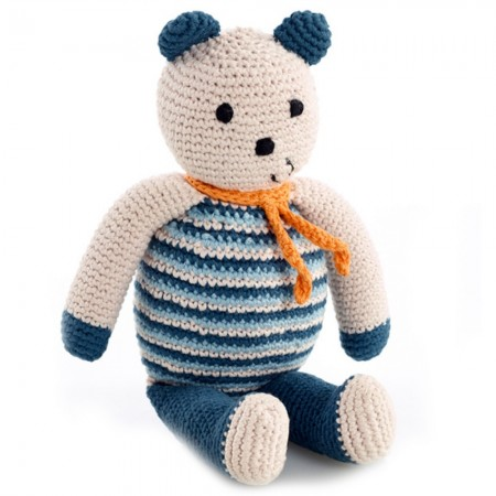 Pebble Crochet Bear - Soft Blue
